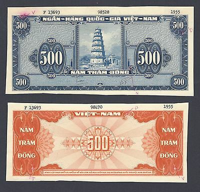 South Vietnam 500 Dong ND(1955) P10pr Essay Obverse & Reverse Proof Uncirculated