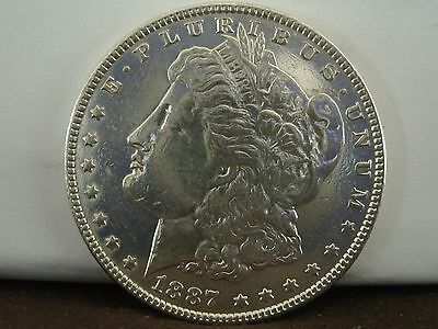 1887 $1 Morgan Silver Dollar   #618