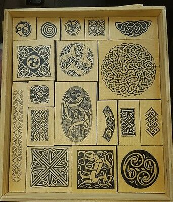 New Jim Paul CELTIC DECORATION KIT Make Your Own Designs with Rubber Stamps set