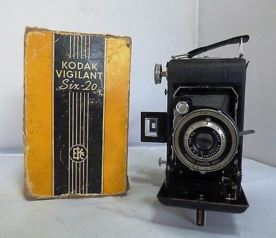 Vintage Kodak Vigilant Six-20 Folding Camera in Original Box