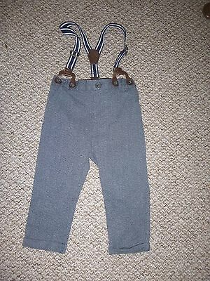 next baby boys trousers with braces 12-18 months