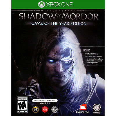 Middle-Earth: Shadow of Mordor - Game of the Year Edition Xbox One [Brand New]