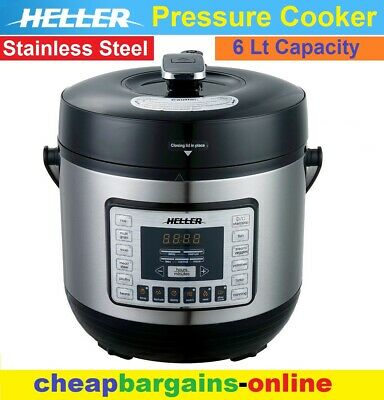 HELLER ELECTRIC PRESSURE COOKER 6Lt - 1000W AUTO MULTI-FUNCTION STAINLESS STEEL
