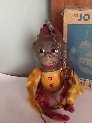 VINTAGE 1950'S CIRCUS MONKEYJoJo Kanco Kaye Novelty Product Box Spring  NY