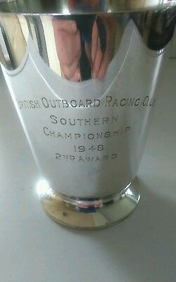 British Outboard Racing Club Silver Plated Tankard