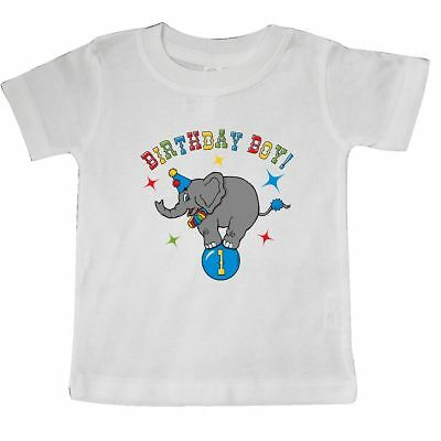 Inktastic Circus Elephant 1st Birthday Boy Baby T-Shirt Cartoon Big Top Carnival