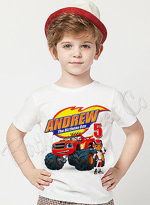 Blaze and the Monster Machines Birthday Shirt Custom Name and Age