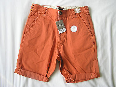 BNWT Next Boys Orange Shorts Age 13 Years