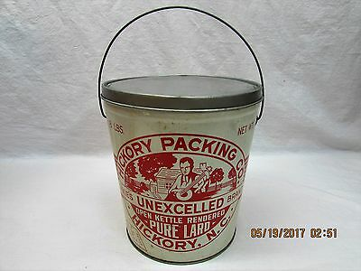 Hickory Packing Co. Dixie's Unexcelled Brand Pure Lard Tin Metal Can