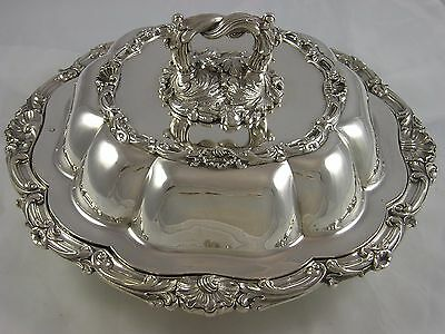 Great Quality Victorian 1839 William Ker Reid Silver Entree Dish 2145 grams