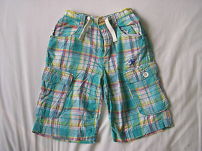 Next Boys Turquoise Check Shorts Age 11 Years
