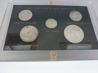 Great Britain 1946 Mint Box George VI Set of 5 Silver Coins,UNC