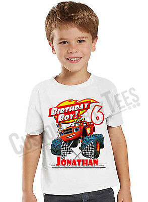 Blaze and the Monster Machines Personalized Custom Birthday Shirt Name and Age