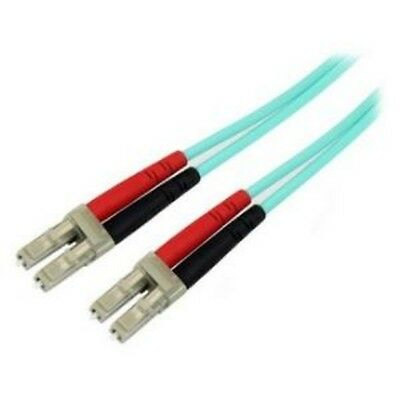 NEW STARTECH A50FBLCLC2 2M 10 GB AQUA MM FIBER PATCH CABLE LC/LC....b.