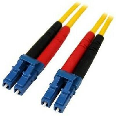 NEW STARTECH SMFIBLCLC4 4M SM DUPLEX FIBER PATCH CABLE LC TO LC....b.