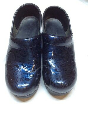Dansko Women's Professional Cobalt Tooled Patent 39 quality leather work 8.5 - 9