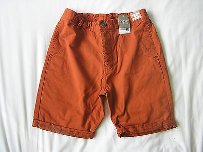 BNWT Next Boys Orange Shorts Age 14 Years