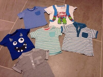 Baby Boys Summer T-Shirts 6-9 Months