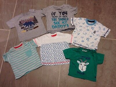 Baby Boys Summer T-Shirts 0-3 Months