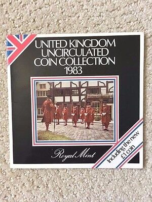 1983 United Kingdom Brilliant Uncirculated Coin Collection in Presentation Pack