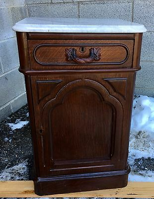 Victorian Marble Top 1/2 Commode