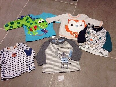 Baby Boys Long Sleeved Tops Newborn/0-3 Months