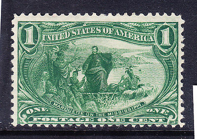 USA TRANS MISSISSIPPI EXPO 1898 SG291 1c deep yellow-green m/m off-centre cat£31