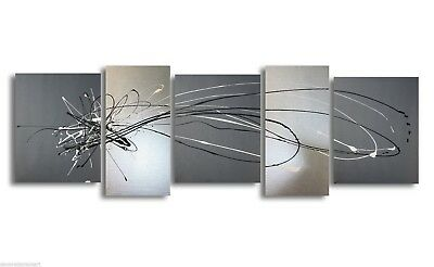 ABSTRACT CANVAS PAINTING grey silver artwork Australia
