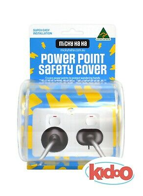 Power Point Cord Safety Cover NEW Double Single Twin Micky Ha Ha Child Baby