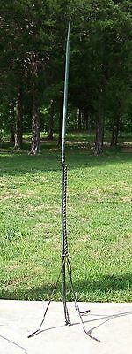Antique Copper Lightning Rod With Twisted Steel Tripod Stand
