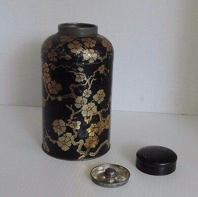 Vintage Chinese / Japanese  Tea Tin - Canister - Caddie.