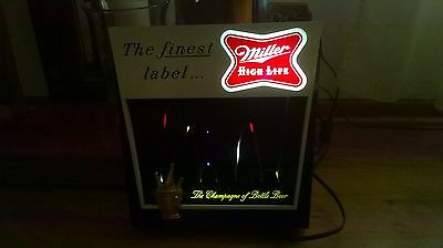 1960 MILLER HIGH LIFE LIGHTED BEER SIGN BOUNCING BALL ADVERTISING vintage