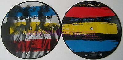 """EX/EX The Police Every Breath You Take 7"""" VINYL 45 Picture Pic Disc"""