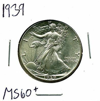 1939 50C Walking Liberty Half Dollar in Uncirculated Condition