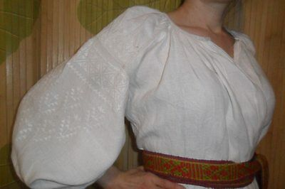Ukrainian vintage(1920-1930y) embroidered dress, M-XL, handiwork, Ukraine
