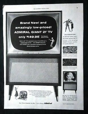 Vintage Ad - Admiral Television - Saturday Evening Post January 22, 1955