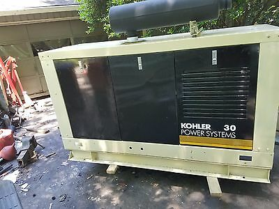 Kohler 33 KW Diesel Generator, very low hours John Deere engine