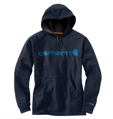 Carhartt Men's Force Extremes Graphic Hoodie Pullover Navy Medium