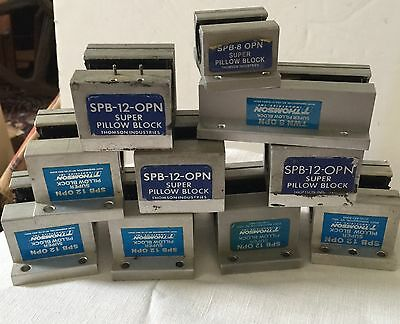 Lot 10 THOMSON Open Super Pillow Blocks SPB 12 OPN, TWN 8 OPN & SPB 8 OPN
