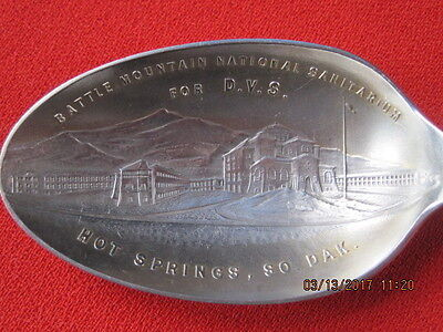 Battle Mountain National Sanitarium For D.V.S./So. Dak /Sterling Souvenir Spoon