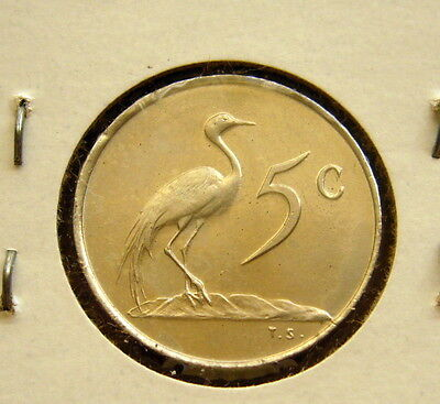 1968 SOUTH AFRICA 5 CENTS COIN Unc
