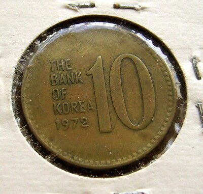 1972 SOUTH KOREA 10 won Coin