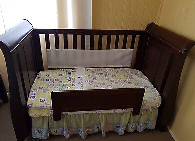 1 King Parrot by Boori Sleigh Cot/ Bed with Matching Change Table (English Oak)