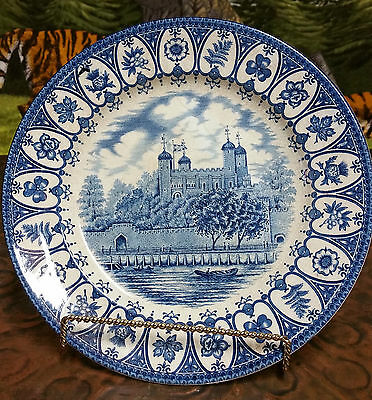 """1977 Queen's Silver Jubilee """"tower Of London"""" Broadhurst Staffordshire Plate"""