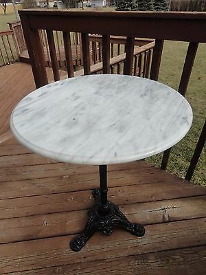 Vintage Marble Top Cast Iron Parlor Table