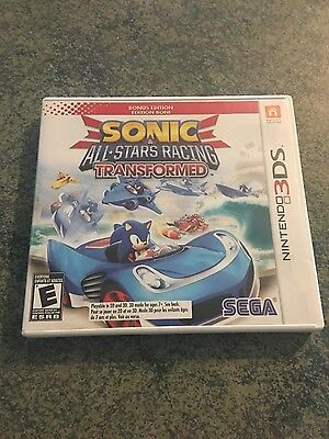 Sonic & All-Stars Racing Transformed Nintendo 3DS Very Good Condition