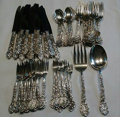Gorham Versailles Family Collection 62 PC Sterling Silver flatware set