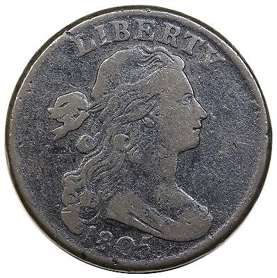 1805 Draped Bust Large Cent, Blunt 1, S-267, F detail