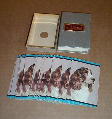 ENGLISH SPRINGER SPANIEL DOG Old Deck Playing Cards Complete Case
