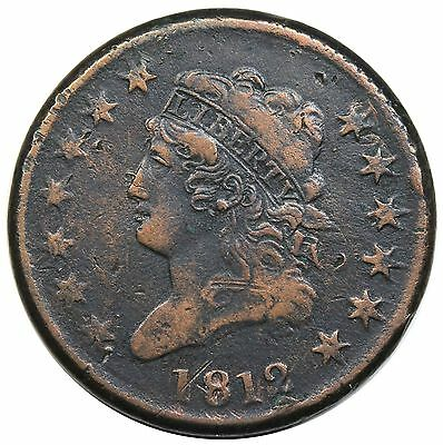 1812 Classic Head Large Cent, Large Date, S-288, R.3, VF detail